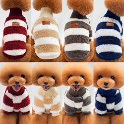 Winter sweater for dogs / cats - stripes design