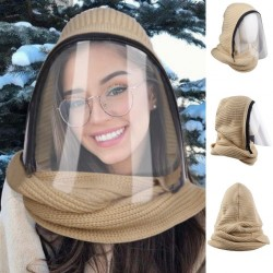 Transparant volgelaatsmasker met sjaal en ritssluiting