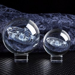 Solar figurines - 3D planets model - crystal ball - desk decoration