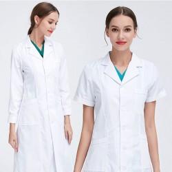 White lab coat - short / long sleeve