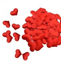 Satijnen hartjes bloemblaadjes - confetti - bruiloften / tafels / bedden / Valentijnsdag decoratie - 100 stuks - 35 mm