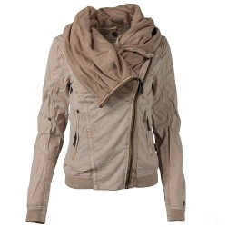 Retro Gothic style - short warm jacket - with zipper