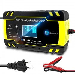 Car battery charger - full automatic - digital LCD - 12V-24V - 8A