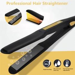 Ceramic hair straightener - temperature adjustment - ionic - dry / wet hair