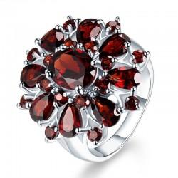 Ruby amethyst ring