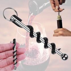 Mini corkscrew - wine opener - stainless steel