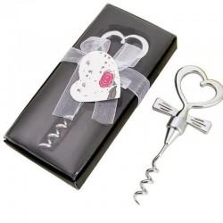 Wine bottle opener - corkscrew - heart shaped handle