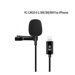 YC-LM10 II - 1,5 m - 3 m - 6 m - professionele microfoon Lavalier - kabel voor iPhone