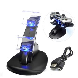 PS4 / Pro / Slim - controller charging dock - stand - dual USB - LED