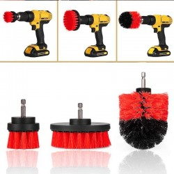 Detachable brush for electric drill - car cleaning tool - 3 pieces