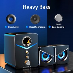 Computerspeakerset - Bluetooth 5.0 - USB - stereogeluid - bas