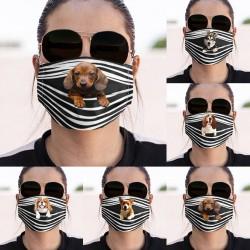 Beschermend gezicht / mondmasker - herbruikbaar - hondenprint