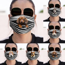 Cute dog print - cotton face mask - washable - breathable