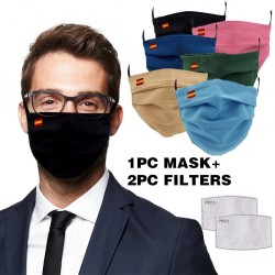 Reusable face mask - with 2 filters - washable - breathable