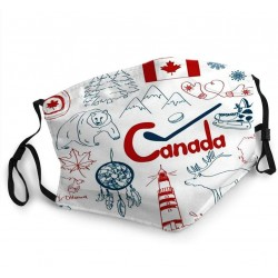 Protective mouth / face mask - with 2 PM2.5 filters - reusable - Canada