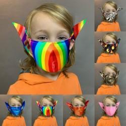 Mund- / Gesichtsschutzmaske für Kinder - wiederverwendbar - Elfenohren