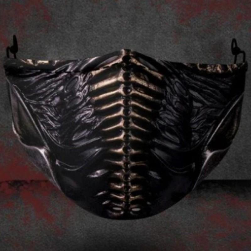 Mond / gezicht beschermend masker met PM2.5 filters - neusklem - herbruikbaar - Ninja
