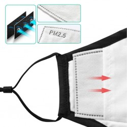 Protective mouth / face mask - PM2.5 filters - reusable - playing cards aces