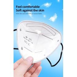FFP2 - KN95 - PM2.5 - antibacterieel beschermend mond- / gezichtsmasker - 5-laags - herbruikbaar - 10/20/50/100 stuks