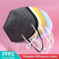 FFP2 - KN95 - PM2.5 - antibakterielle Mund- / Gesichtsschutzmaske - 5-lagig - wiederverwendbar - 10/20/50/100 Stück