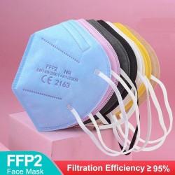 FFP2 - KN95 - PM2.5 - antibacterieel beschermend mond- / gezichtsmasker - 5-laags - herbruikbaar - 10/50/100 stuks