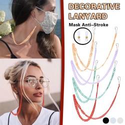 Multifunktions-Perlenkette - Halter für Brille / Gesichtsmaske - dekoratives Lanyard