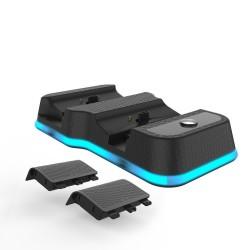 Dual slot laadstation voor XBOX Serie X draadloze controller - 2 * 600mAh oplaadbare batterijen - kabel