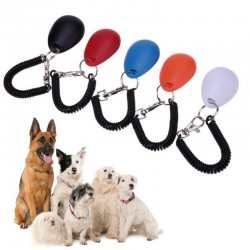 Dog trainer - adjustable keychain with sound - clicker - anti barking device