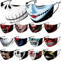 Mund- / Gesichtsschutzmaske - PM2.5-Filter - wiederverwendbar - Clown Joker Devil