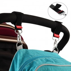 Baby stroller hooks - hanging straps - bag holder with metal buckle - 2 pieces