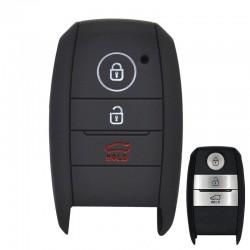 Silicone key case cover - 3 buttons - Kia - Rio - Ceed - Soul - Sportage - Sorento - Carens - Picanto