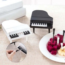 Piano shaped fruit / snacks forks - toothpicks - 9 pieces