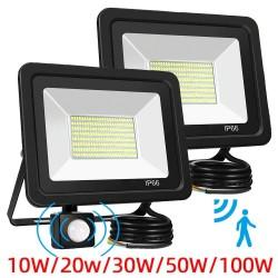 10W - 20W - 30W - 50W - 100W - 220V - LED schijnwerper - waterdichte reflector - buitenlamp - PIR bewegingssensor