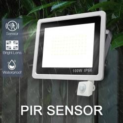 LED schijnwerper - buitenreflector - PIR bewegingssensor - waterdicht - 10W - 20W - 30W - 50W - 100W