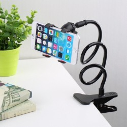 Flexible phone holder - adjustable - with clip