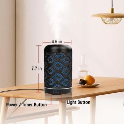 Air humidifier - essential oils diffuser - with 7 colors night light - 260ml