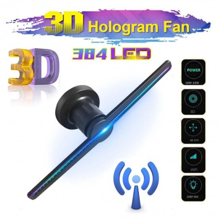 3D fan hologram projector - advertising display