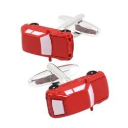 Red car cufflinks - 2pcs