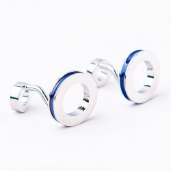 Double ring cufflinks - 2 pieces
