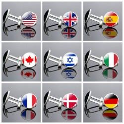 National flag cufflinks- with box