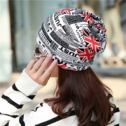 Warm beanies - unisex hat - UK flag newspaper design