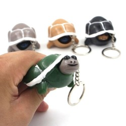 Squeezy turtle - plastic - keychain
