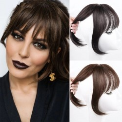 Hair bang - synthetic hair with clip - volumizing / hair extension
