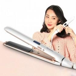Multifunctional hair mini straightener / curler - with temperature control