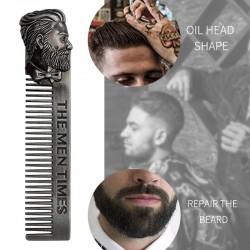 Barber Styling - Metallkamm - für Herren Bart / Schnurrbart / Haare