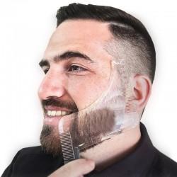 Bartformer-Schablone - doppelseitiges Rasierwerkzeug mit Kamm