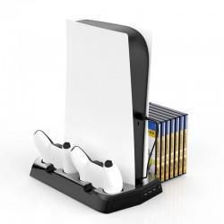 PS5 - 3-in-1 DE / UHD-host - multifunctioneel oplaadstation - koelventilator - opslag van game discs