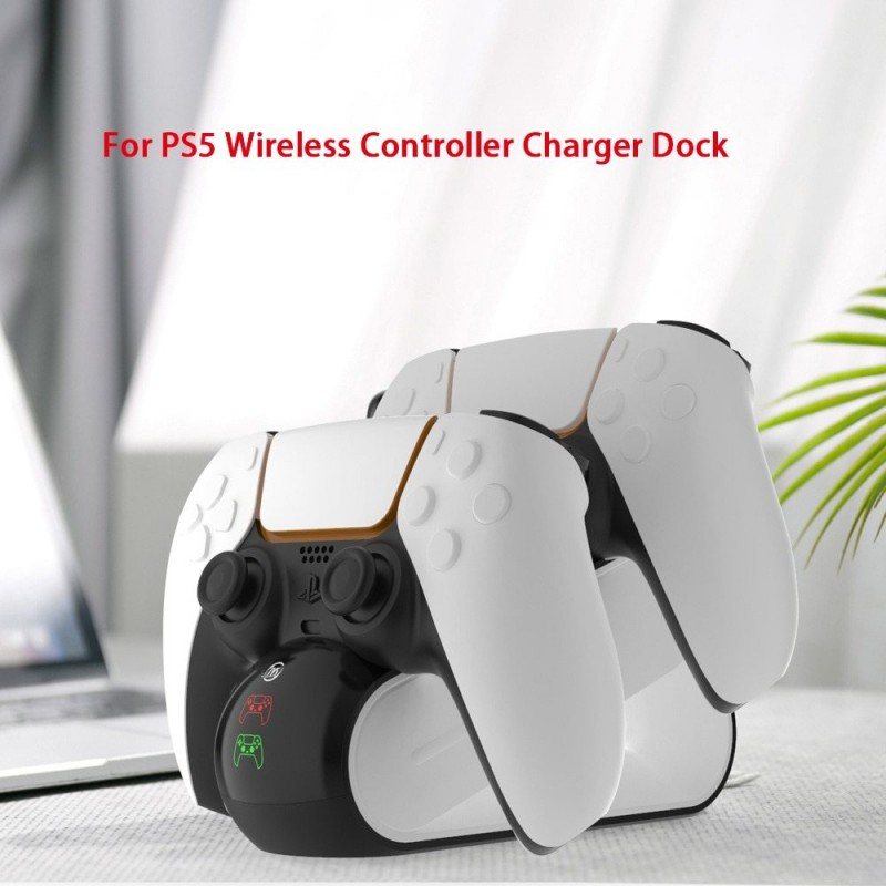 DualSense PS5 draadloze controller - dubbel USB-oplaadstation - LED-indicator