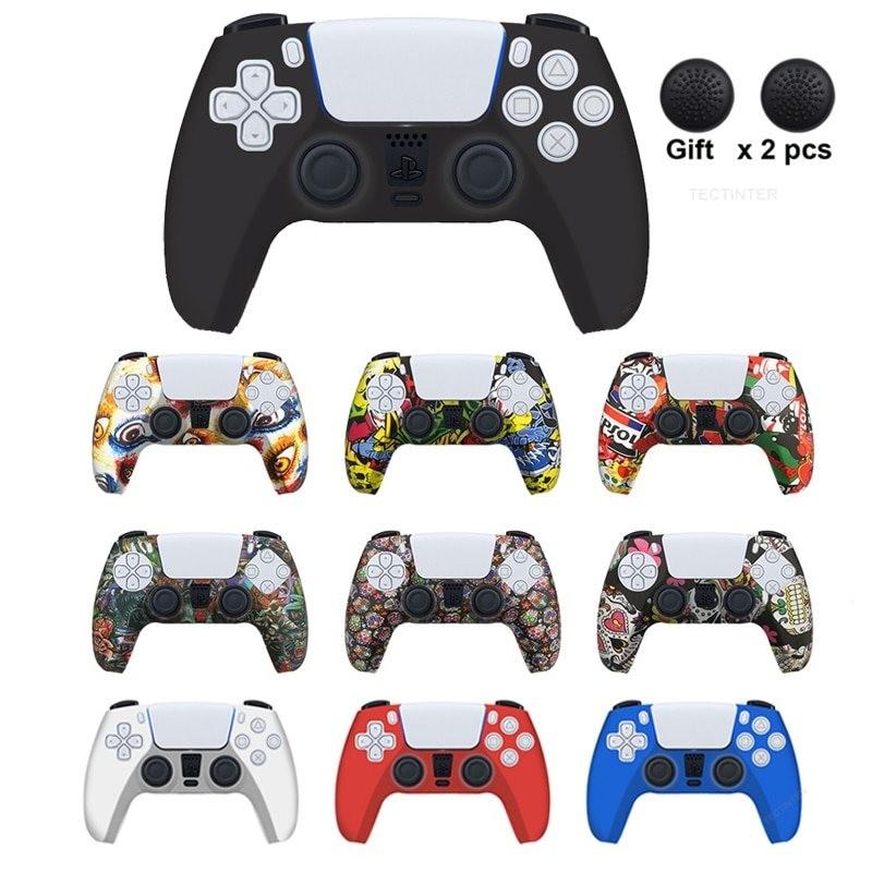 PS5 - siliconen controller case - met duimgrepen
