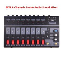 MX8 - draagbaar - stereo audio sound mixer - 8 kanalen - weinig ruis - met echo-effect